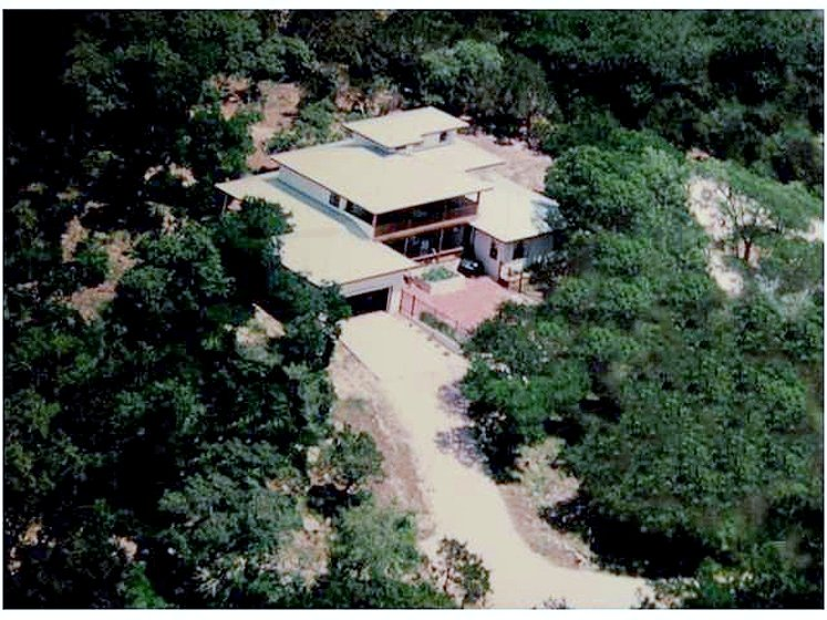 Aerial view of Dharma Ranch
