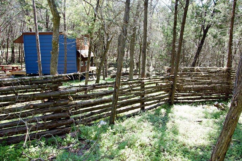 Natural cedar privacy fencing
