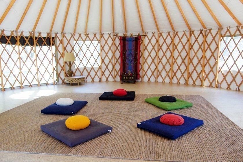 meditation in a yurt
