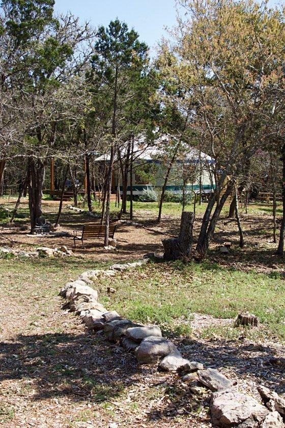Main path to yurt