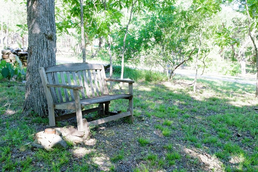 One of the many sitting areas on the property.