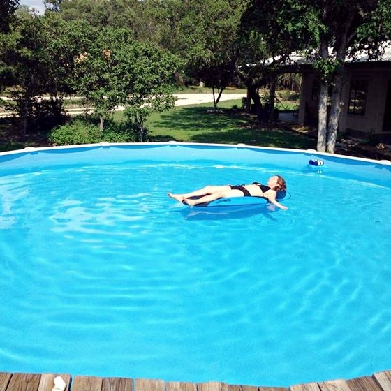 Cool off in the pool during the summer.