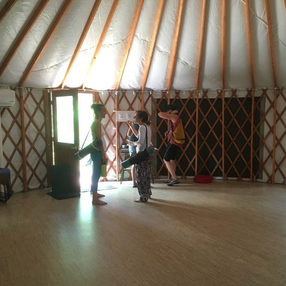 another fab workshop in the yurt